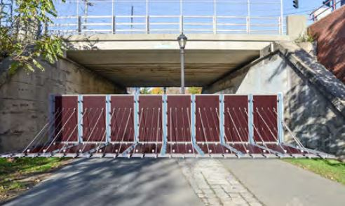 Image for deployable flood wall at greenway under sumner st