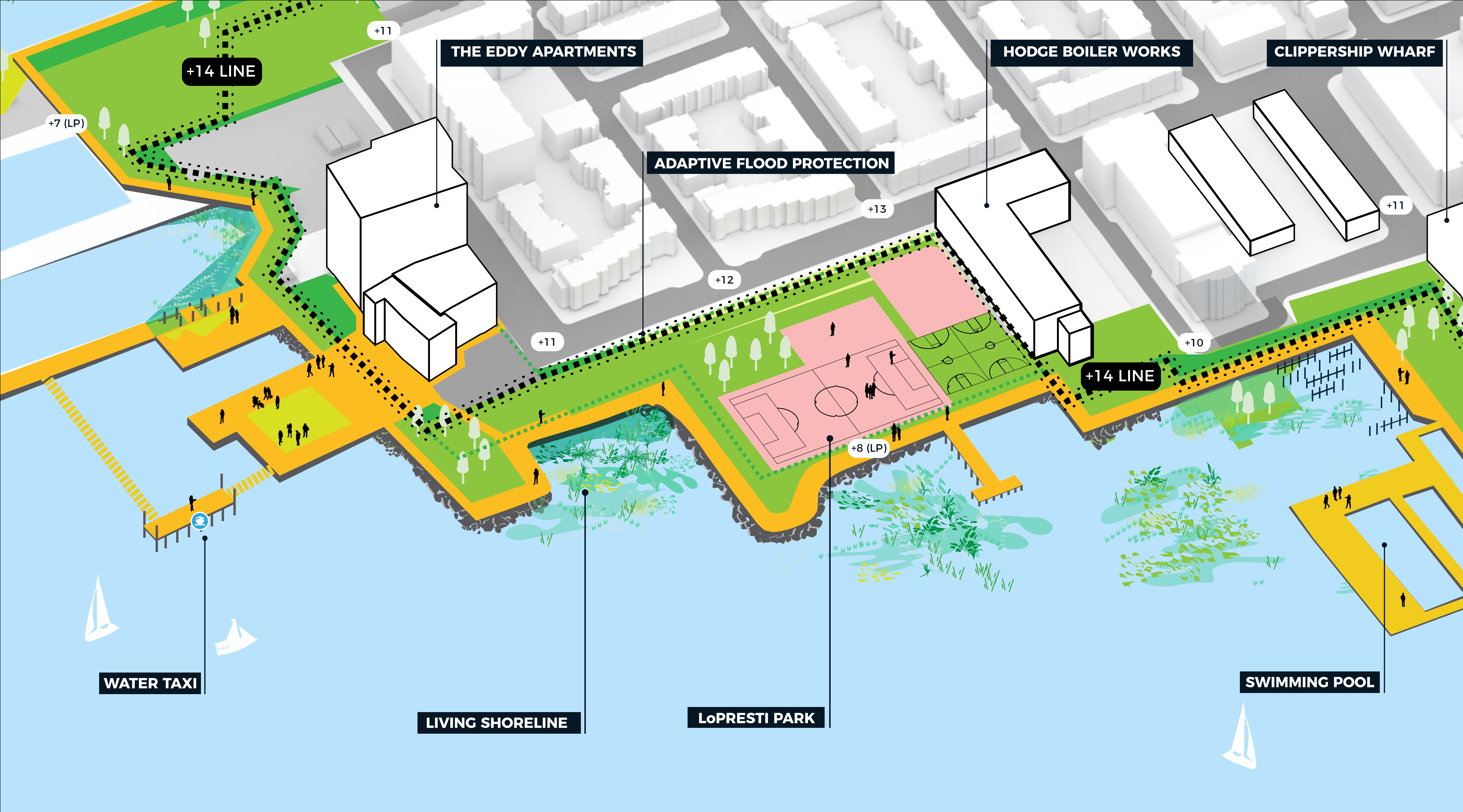 Image for  harborwalk between clippership wharf and hodge boiler works
