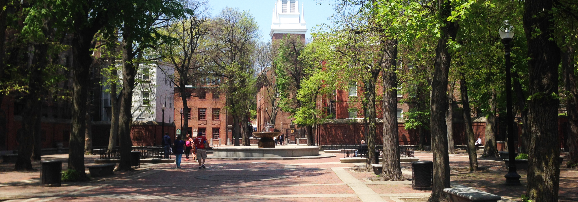 Image for a photo of paul revere mall in central boston