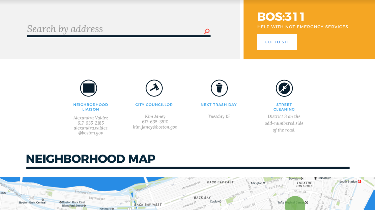 Image for a mockup of the redesigned my neighborhood resources page
