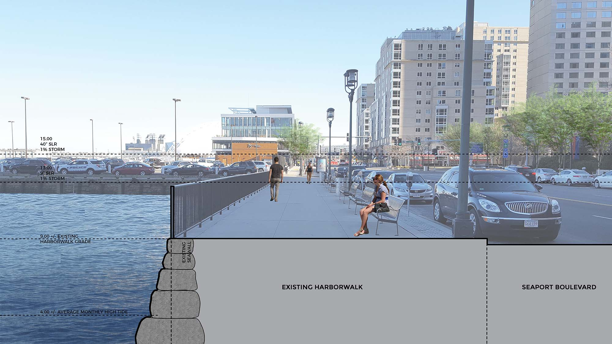 Image for proposed harborwalk with seawall