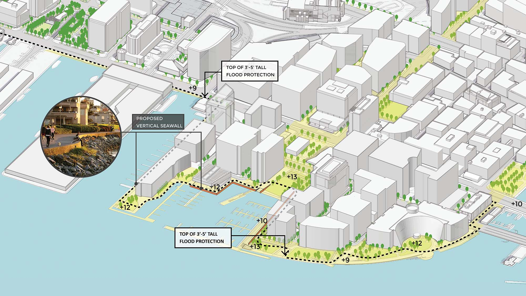 Image for south boston waterfront mid term strategy for elevation and seawall