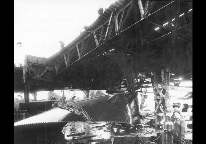 Image for molasses flood destruction, january 15, 1919 (boston elevated railway photographs (9800 018), boston city archives)