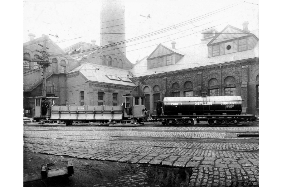 Image for purity distilling company train car, november 1916 (ber photograph collection, 9800 018)