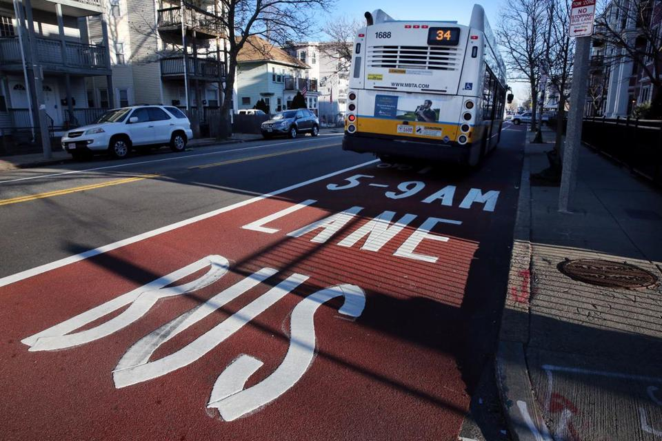 Image for roslindale bus lane