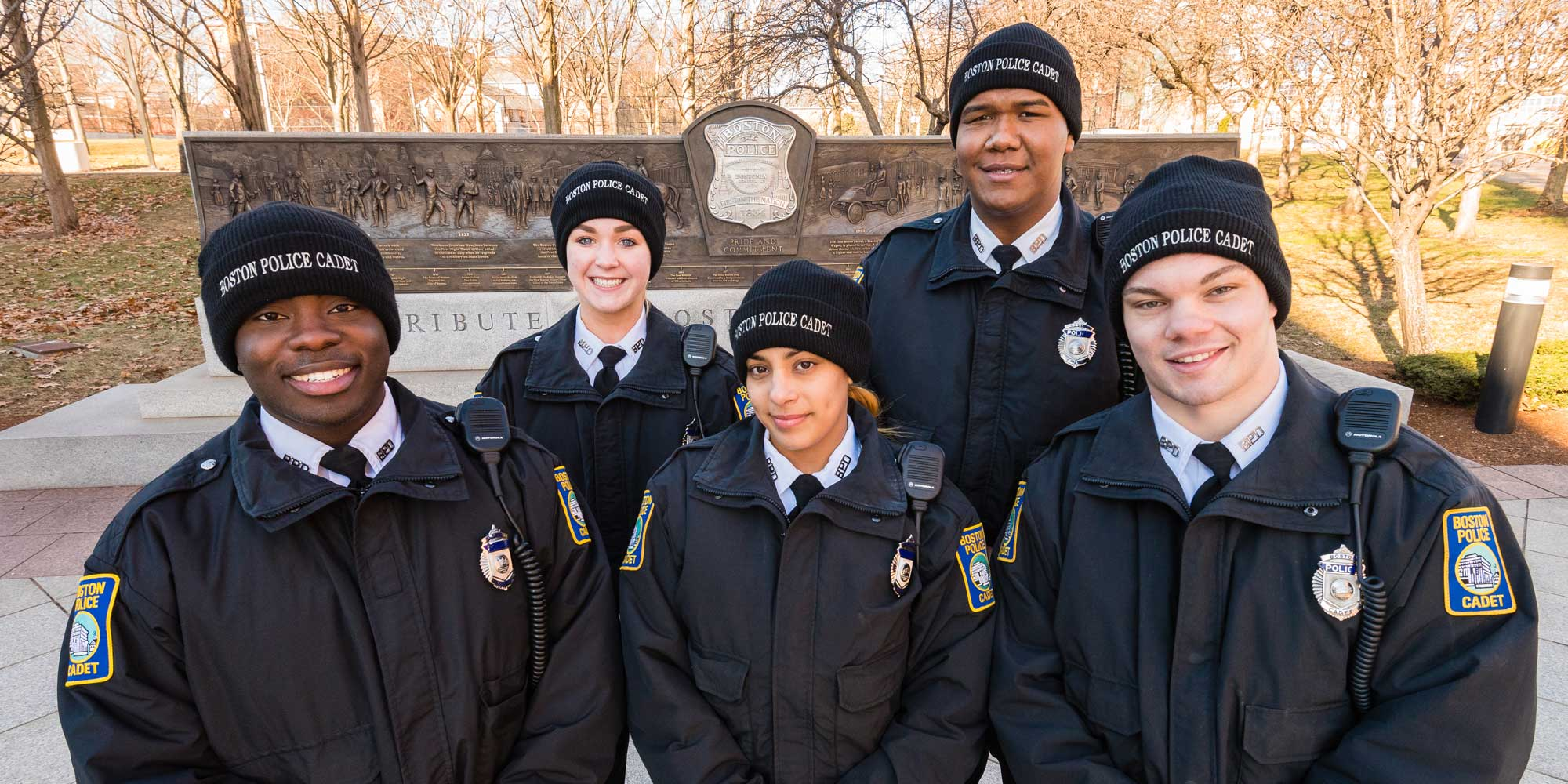 Image for cadets from the boston police department's cadet program