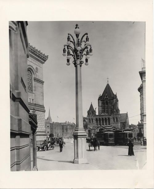 Copley Square, circa 1910, Street Lighting collection, Collection 5030.003,