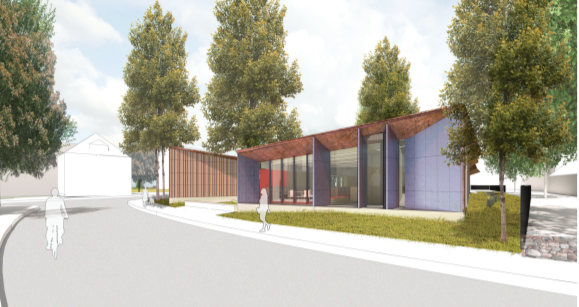 Rendering of Adams Street Branch Library