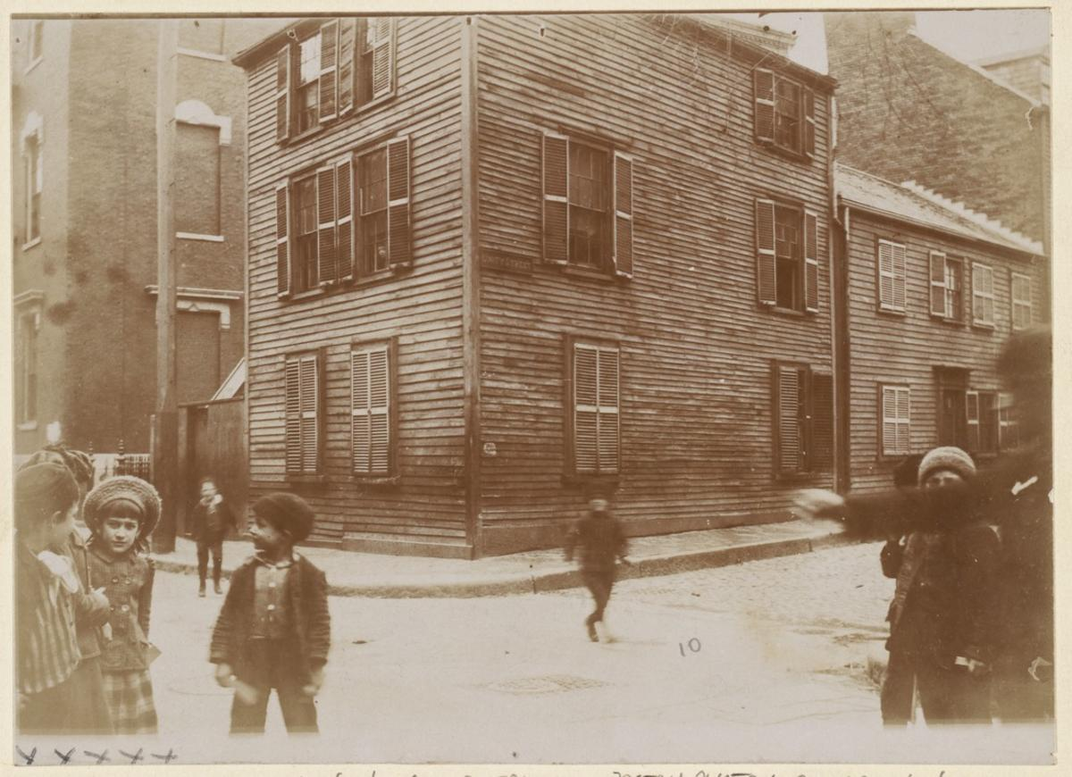 Corner of Unity and Charter Streets, 1893, Boston Public Library