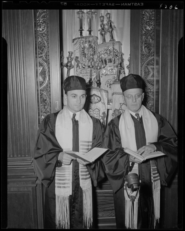 Rabbi Abrams, Cantor Segal, 1944, Boston Public Library