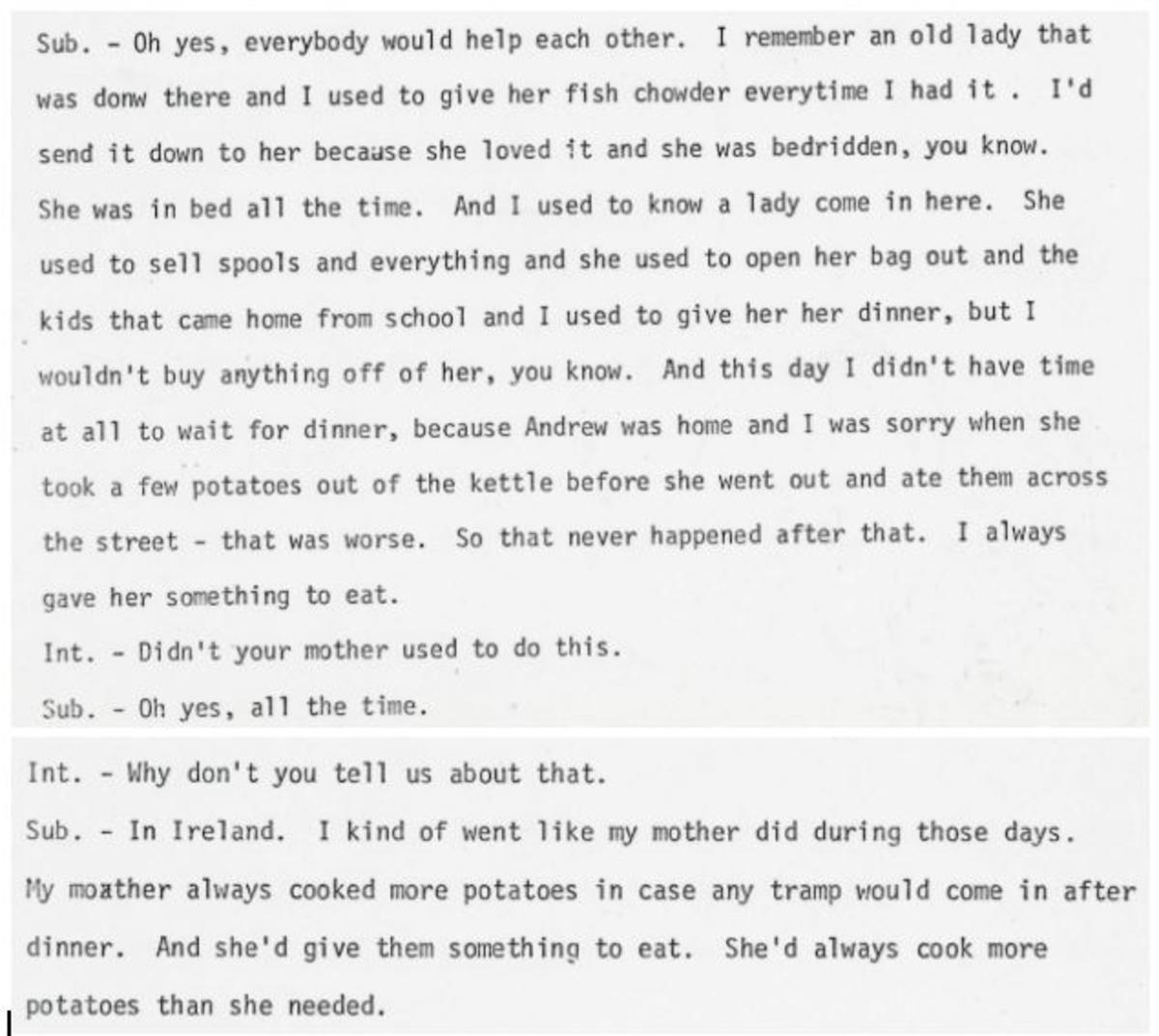 Nora Casey Oral History