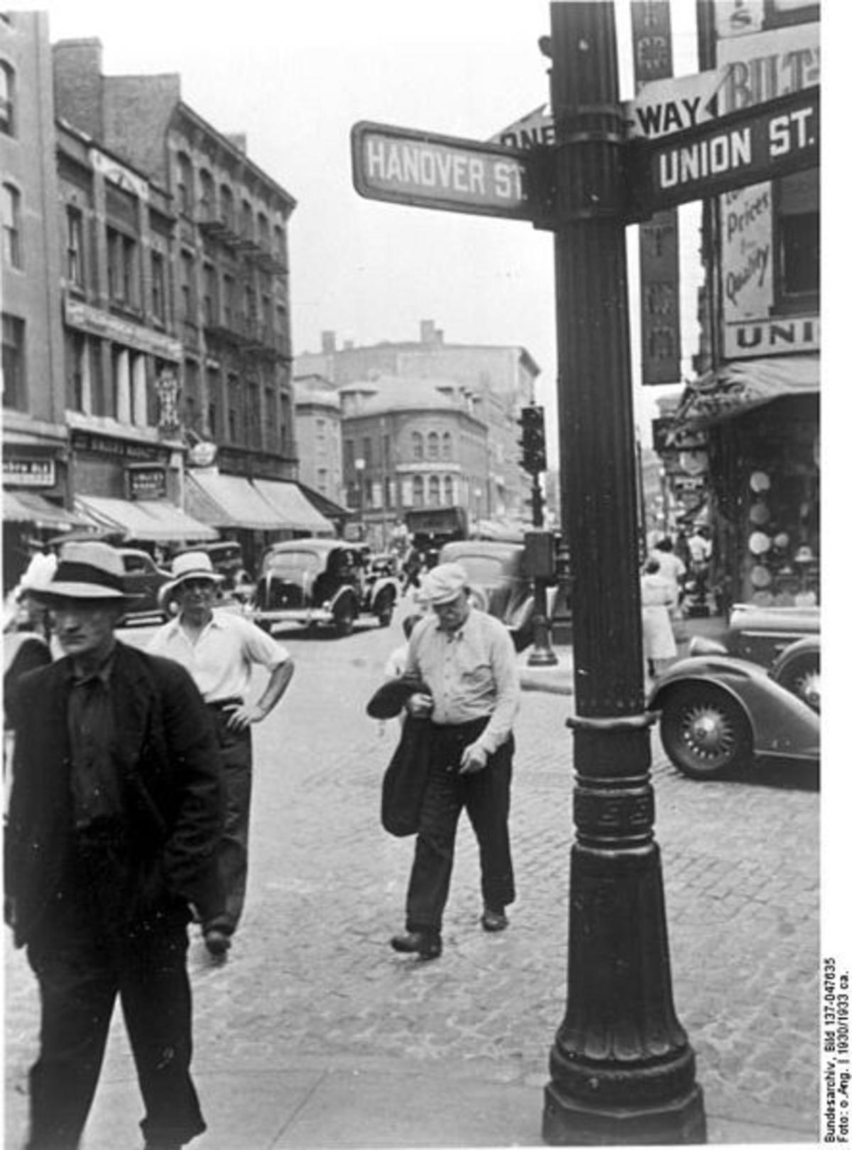 Hanover Street, Boston, 1930