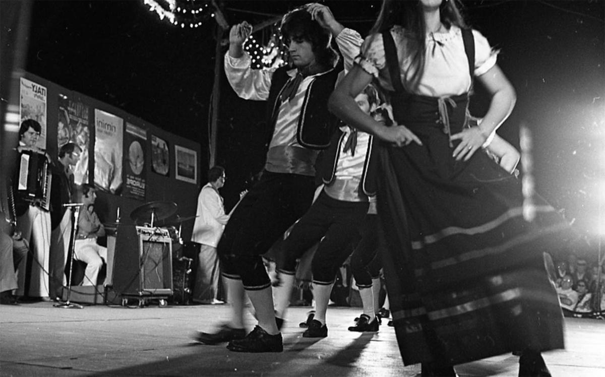 Dancers at a North End Festival, August 23, 1973, Mayor Kevin White records, Boston City Archives