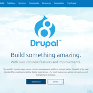 Image for a screenshot of the drupal 8 website