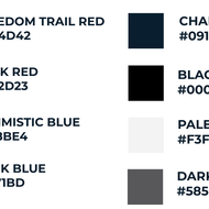 Image for colors from the new boston gov color palette