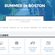 Image for a screenshot of the summer in boston guide page