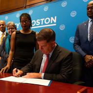 Mayor Walsh signs Executive Order