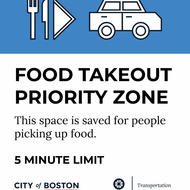 Food Takeout Priority Zone
