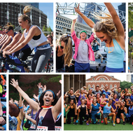 People participating in fitness activities for Boston Social Fitness Festival
