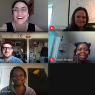 Boston Artists-in-Residence during virtual meeting