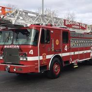 Boston Fire Department Ladder 4 fire truck