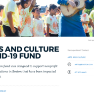 Arts and Culture COVID-19 fund