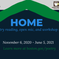 Flyer for HOME poetry series