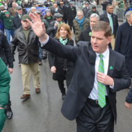 Image for mayor walsh marched in the 2015 st patrick's day parade in south boston