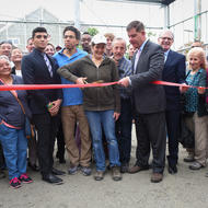 Image for ribbon cutting of we grow microgreens