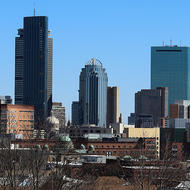 Image for the city of boston skyline