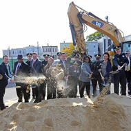Image for groundbreaking of east boston police station