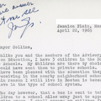 Image for mayor collins letter